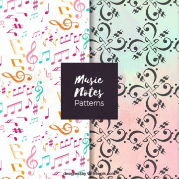 Free vector Decorative patterns of musical notes #15081