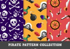 Free vector Decorative patterns with pirate accessories #15055