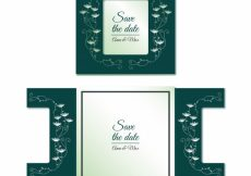 Free vector Decorative wedding card with laser cut #16967