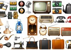 Free vector Different kind of antiques illustration #18081