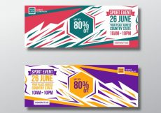 Free vector Discount banner with modern design #16833
