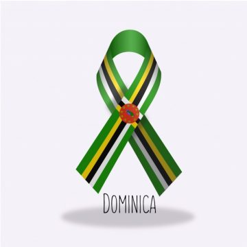 Free vector Dominica flag ribbon design #14343