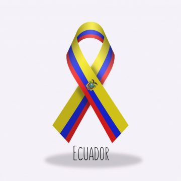 Free vector Ecuador flag ribbon design #14351