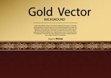 Free vector Elegant Gold Red Background Illustration #14768