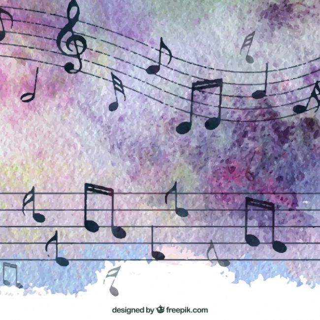 Free vector Elegant music notes background #17564
