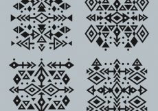 Free vector Ethnic abstract geometric tattoo collection #17784