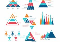 Free vector Fantastic assortment of infographic charts #12847