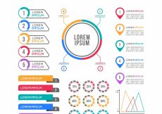 Free vector Fantastic set of flat infographic items #14913