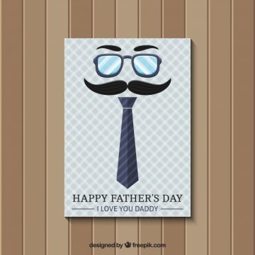 Free vector Father's day card in retro style #14185