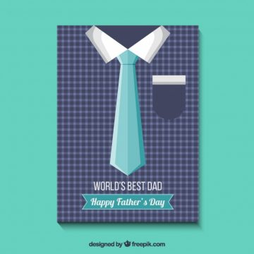 Free vector Father's day card with shirt and tie #14191