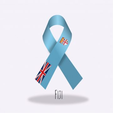 Free vector Fiji flag ribbon design #14339