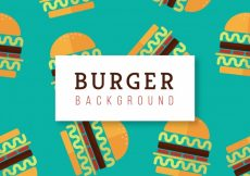 Free vector Flat background with decorative burgers #15531