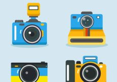 Free vector Flat design photo camera collection #17987