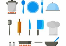 Free vector Flat selection of great chef objects #14671