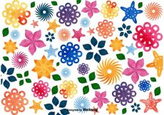 Free vector Floral Mosaic Background #14292