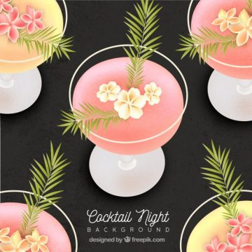 Free vector Flower cocktail background #18178