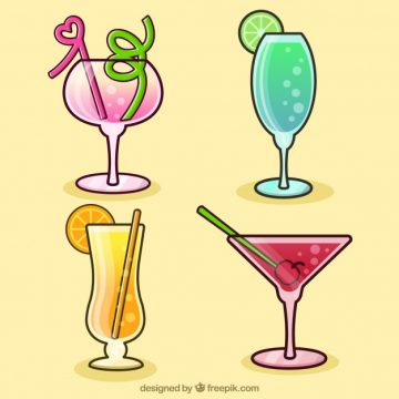 Free vector Four hand-drawn drinks #18198