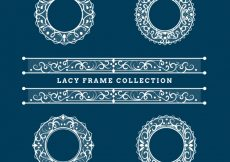 Free vector Four lace frames #18817