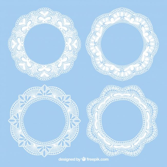 Free vector Four lace vintage frames #18859