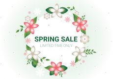 Free vector Free Spring Sale Vector Background #14918