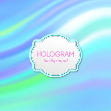 Free vector Free Vector Blue Hologram Background #18908