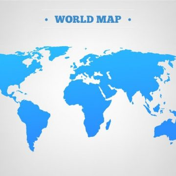 Free vector Free Vector Blue World Map #15770