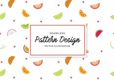 Free vector Fruit pattern background #18942