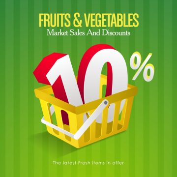 Free vector Fruits and vegetables sales background #18869
