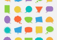 Free vector Geometric speech bubbles collection #18051