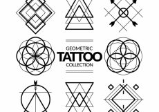 Free vector Geometric symbols tattoo collection #17804