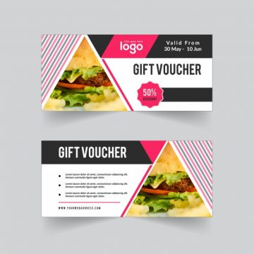 Free vector Gift voucher with logo #17013