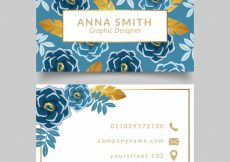 Free vector Golden floral company card #17109
