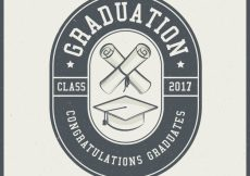 Free vector Graduation background in vintage style #15875