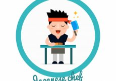 Free vector Great background of japanese chef #15151