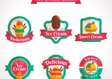Free vector Great ice cream label collection #13594