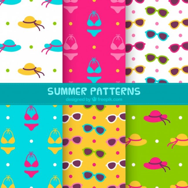 Free vector Great selection of colorful summer patterns #13405