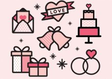 Free vector Great selection of linear wedding items #13117