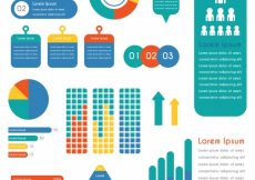 Free vector Great set of colored infographic elements #12977