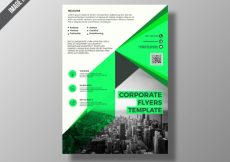 Free vector Green and white business brochure #16817