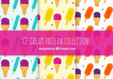 Free vector Hand-drawn pack of ice cream patterns #15441
