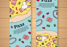 Free vector Hand drawn pizza flyer #17649