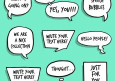Free vector Hand drawn speech bubbles collection #18057