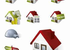 Free vector Houses icons collection #16432