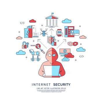 Free vector Internet security background #18242