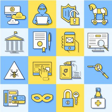 Free vector Internet security elements #18274