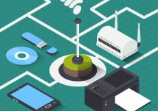 Free vector Isometric wifi background with variety of electronic devices #14847