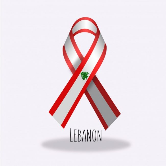 Free vector Lebanon flag ribbon design #14291