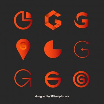 Free vector Logo letter g template collection #17740