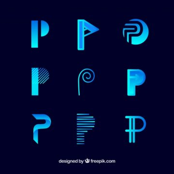 Free vector Logo letter p template collection #17736