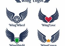 Free vector Logos with color element and wings #13003